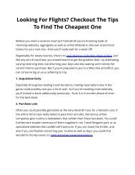 Looking For Flights? Checkout The Tips To Find The Cheapest One