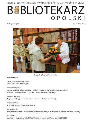 Nr 2-3/2011 (LV) ISSN 2083-7321 - Bibliotekarz Opolski