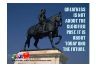 greatness is not about the glorified past. it is about today and the ...
