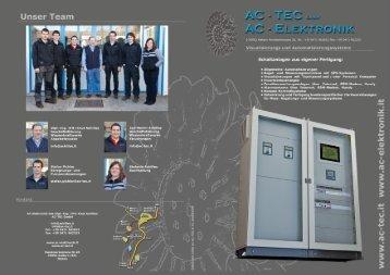 Schaltanlagen aus eigener Fertigung: - AC-TEC