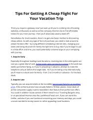 Tips For Getting A Cheap Flight For Your Vacation Trip