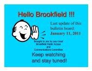 Bulletin Board January 11, 2011 PDF - Brookfield