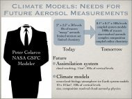 CLIMATE MODELS: NEEDS FOR FUTURE AEROSOL ...