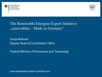 renewables - Made in Germany - AHK ZAKK