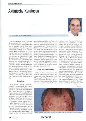 Aktinische Keratosen - Dr. Rainer Kunstfeld