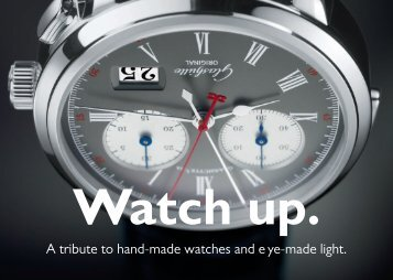 A tribute to hand-made watches and eye-made light. - Jeibmann ...
