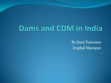 Case Study on hydro projects in India - Carbon Market Watch