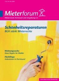 Mieterforum Dortmund - Ausgabe II/2015 (Nr. 40)
