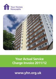 Your actual service charge invoice 2011/12 (pdf) - Your Homes ...