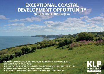 EXCEPTIONAL COASTAL BUILDING PLOT, MAIDENCOMBE, DEVON