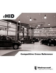 Competitive Cross Reference - Universal Lighting Technologies