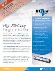 High Efficiency Programmed Start - Universal Lighting Technologies