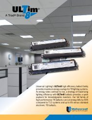 ULTim8 Brochure - Universal Lighting Technologies