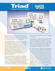 Compact Fluorescent Ballasts - Universal Lighting Technologies