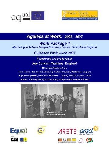 Ageless at Work: 2005 - 2007 - ARETE