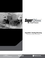 SuperDim® Analog Dimming - Universal Lighting Technologies
