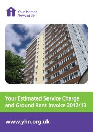 The Service Charges - Your Homes Newcastle