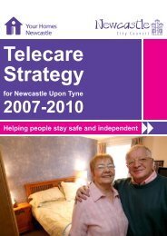 Telecare - Your Homes Newcastle