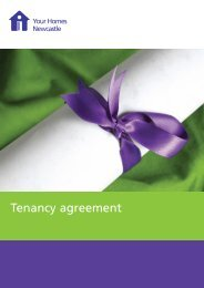 Tenancy agreement - Your Homes Newcastle
