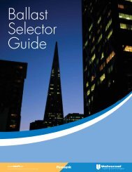 Ballast Selector Guide - Universal Lighting Technologies