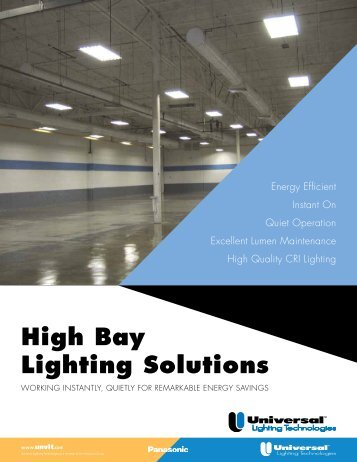 High Bay Lighting Solutions - Universal Lighting Technologies