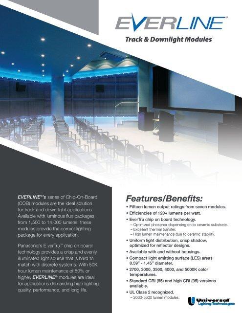 Everline Led Track Downlight Brochure