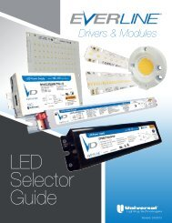 LED Selector Guide - Universal Lighting Technologies
