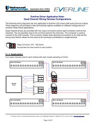 Quad Channel Application Wiring - Universal Lighting Technologies
