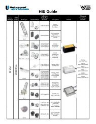Lampholder HID Guide - Universal Lighting Technologies