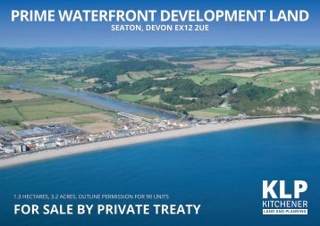 PRIME WATERFRONT DEVELOPMENT LAND, SEATON, DEVON