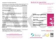 Flyer Einführungen 2009 und 2010