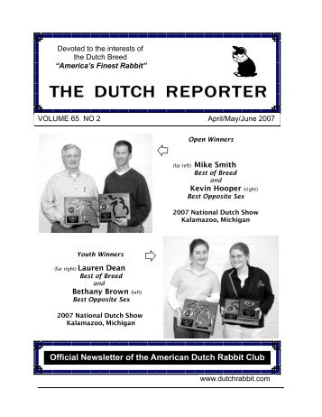 April May June 2007 Issue - American Dutch Rabbit Club