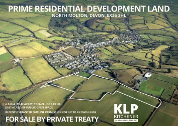 PRIME RESIDENTIAL DEVELOPMENT LAND, NORTH MOLTON, DEVON