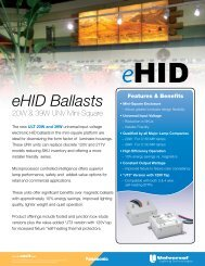 eHID Ballasts - Universal Lighting Technologies