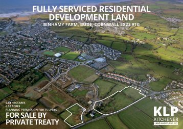 FULLY SERVICED RESIDENTIAL DEVELOPMENT LAND, BUDE, CORNWALL