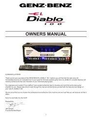 EL DIABLO 100 Owners Manual - Genz Benz