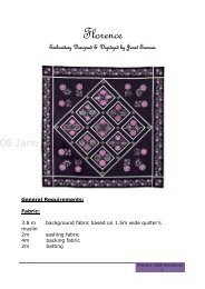 Download the Florence Quilt Instructions - Echidna Sewing Products