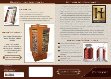 Hemingworth Thread Colour Chart. - Echidna Sewing Products