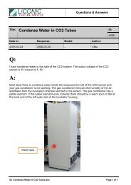 Title: Condense Water in CO2 Tubes