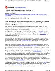 New Digital Copyright Bill