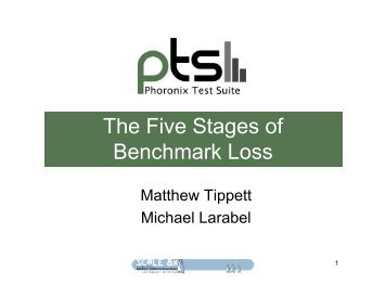 The Five Stages of Benchmark Loss - Phoronix Test Suite