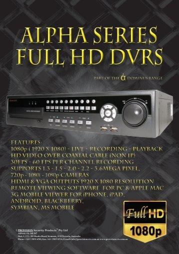 1080p ( 1920 x 1080) - Live - recording - Provisioncctv.com.au