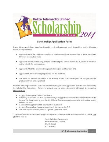 Roberts Scholarship Application Form 09