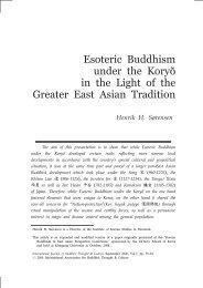 Esoteric Buddhism under the Koryŏ in the Light of ... - Buddhism.org