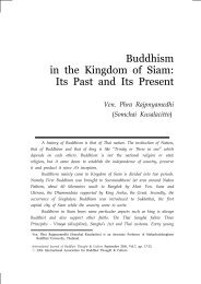 Buddhism in the Kingdom of Siam: Its Past and Its ... - Buddhism.org