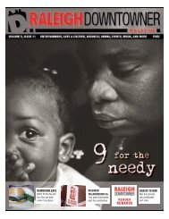 Volume 5, Issue 11 : 9 for the Needy - Raleigh Downtowner Magazine