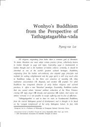 Wonhyo's Buddhism from the Perspective of ... - Buddhism.org