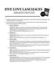 five love languages sermon outline - Outreach