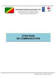 Congo_Stratégie de Communication Projet Africain d'Adaptation ...