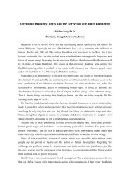 Electronic Buddhist Texts and the Direction of Future ... - Index of